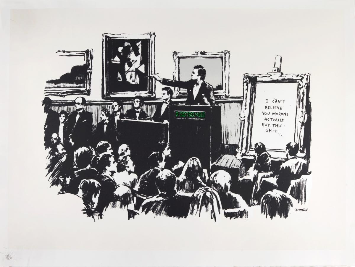 """Obra """"Morons"""", de Banksy"""