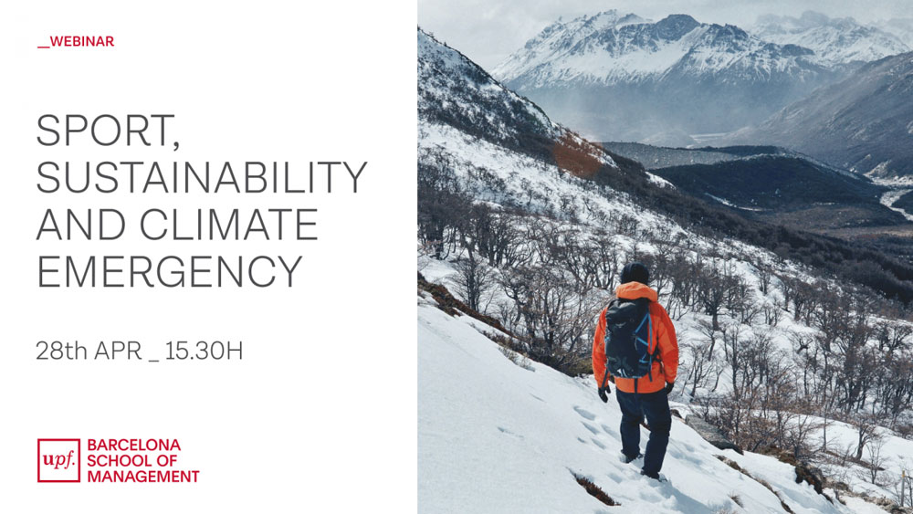 Creativity of the webinar Sport, sustainability and climate emergency